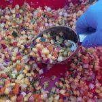 Diced vegetables